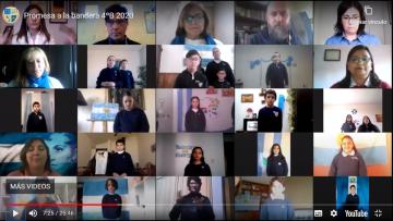 Video: estudiantes de cuarto año juraron lealtad a la Bandera