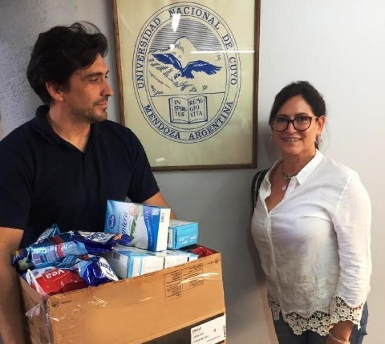 La Escuela Carmen Vera Arenas colaboró con el Banco de Alimentos de Mendoza