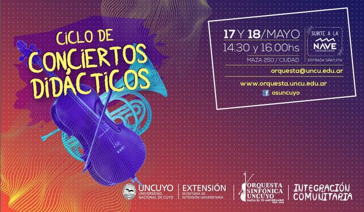 Invitan a participar de Ciclo de Conciertos Didácticos
