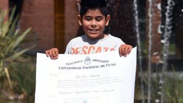 Estudiante de la ECVA fue reconocido por la UNCUYO