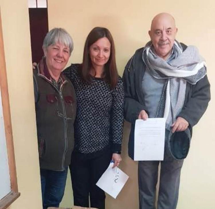 La ECVA donó más de 300 libros a la escuela Federico García Lorca