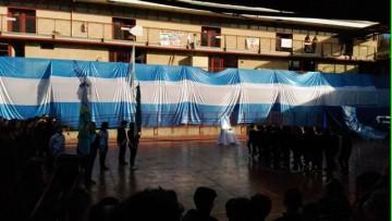 Se realizó el Acto por el Día de la Bandera en la ECVA