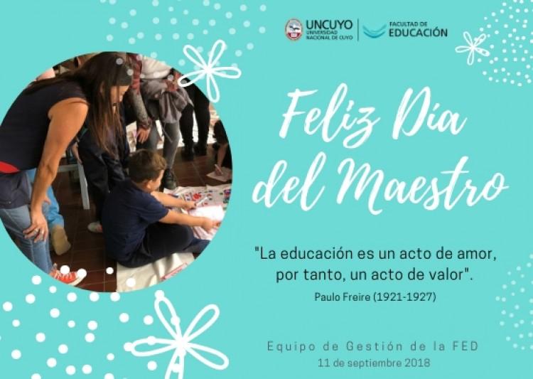 Saludamos a nuestros maestros y maestras en su día ¡FELIZ DÍA!